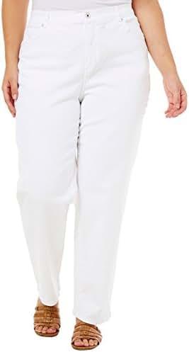 Gloria Vanderbilt Women's Plus-Size Classic Fit Amanda Straight Leg Twill Jean