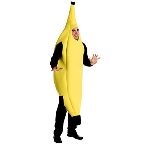 UChic 1PCS Funny Sexy Unisex Costume Banana Suit Lightweight Halloween Christmas Carnival Party Fancy Dress Novelty Banana Suit Xmas Gift Adult (Deluxe Zoot Suit)