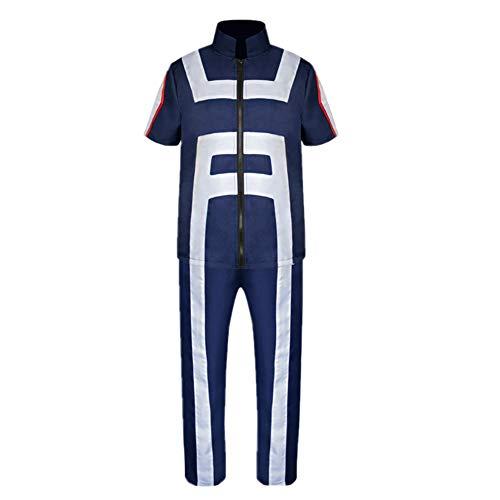 My Hero Academia Boku No Hero Academia Izuku Midoriya Gymnastics Suit Cosplay Costume Training Suit Uniform Sportswear (XXL) ()