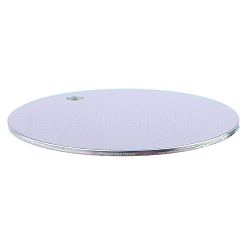 "50 Pack - CleverDelights 1.5"" Round Aluminum Stamping Blanks - Shiny Anodized Finish - 18 Gauge (.039"")"