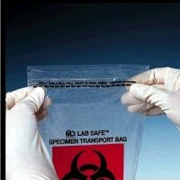 8272305 PT# 49-96 Bag Specimen LLDPE 6x9'' ZipCl w/ Pouch/ Flap Logo Clear 1000/Ca Made by Medical Action Industries