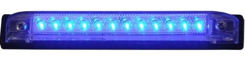 LED Bar Light - BLUE LED, Heavy duty, Marine - RV - Waterproof 12 VDC LED courtesy convenience lamp, 6