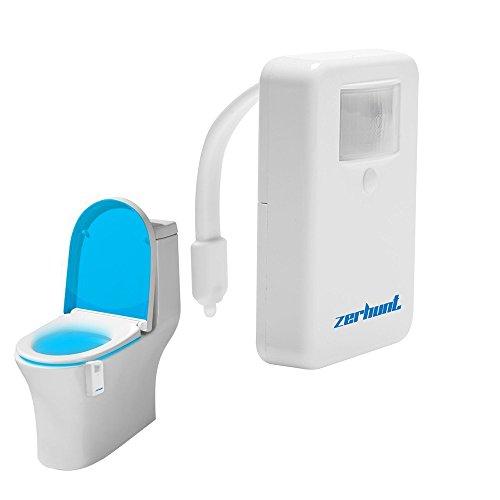 Toilet Light Motion Activated Zerhunt Toilet Night Light 16 Colors Led Bathroom Accessories Toilet Seat Nightlight