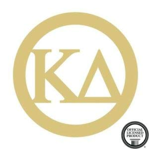 Circle Frame Kappa Delta Cutout Unfinished Wood Door Hanger Sorority Greek MDF Shape Canvas Style 1 (18