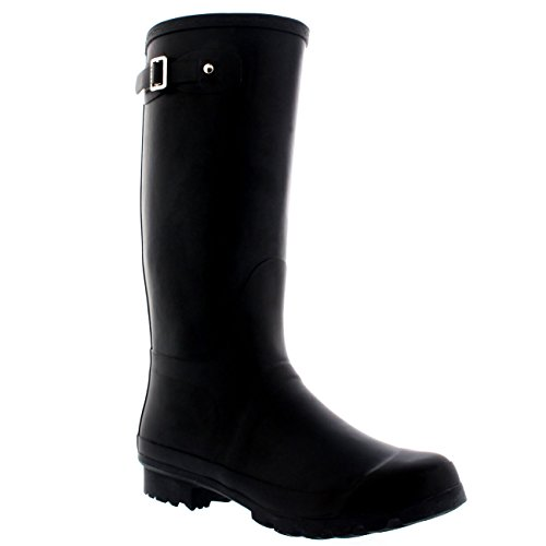 Mens Original Tall Plain Fishing Garden Rubber Waterproof Wellingtons - 10 - BLA43 BL0180