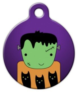 Frankenstein Halloween - Custom Pet ID Tag for Dogs and Cats - Dog Tag Art - SMALL -