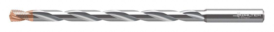 3.50mm Solid Carbide Extra Long Drill Bit TiAlN AlCrN Finish