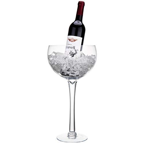 MyGift 16 Inch Large Wine Glass Novelty Stemware/Cork Holder ()