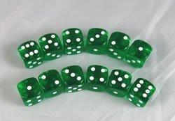 ウイスキー専門店 蔵人クロード Green Transparent Dice D6 B0039KZEX6 16mm 12 Dice Dice Transparent B0039KZEX6, 順海閣ストア:684e9ef1 --- cliente.opweb0005.servidorwebfacil.com