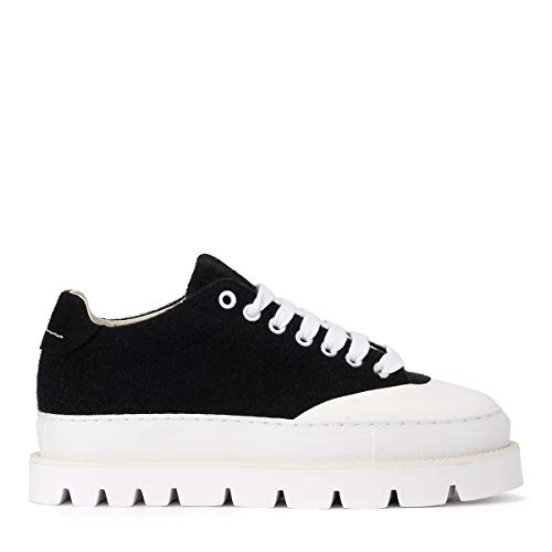 Black Wool MAISON Sneaker Woman's Black Mm6 MARGIELA Mm6 fqzxXwz0v