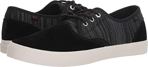 (Quiksilver Men's Shorebreak Deluxe Skate Shoe, Black/Grey/White, 13 M US)