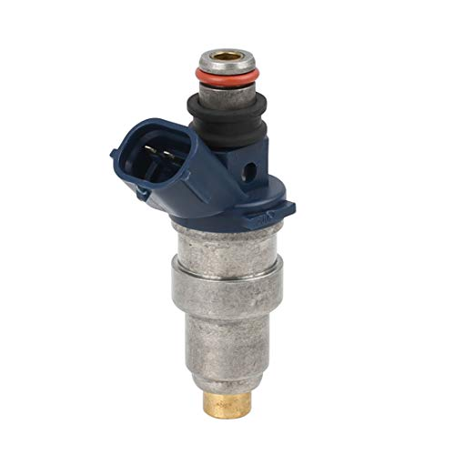 uxcell DC 12V 2 Pin Silver Tone Petrol Fuel Injector for Toyota Tacoma 2.4L 23250-75040 ()