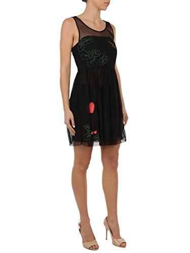 Patrizia Pepe Damen 2A1768A3ENK103 Schwarz Polyamid Kleid N2t6rlK9