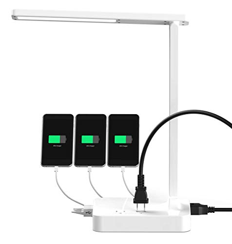 Cozoo Led Desk Lamp With 3 Usb Charging Port And 2 Outlet