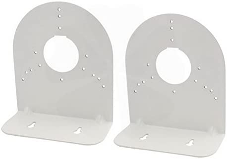 Silver Tone Right Angle CCTV Dome Camera Wall Mount Bracket 160x138x68mm 2Pcs by Ucland