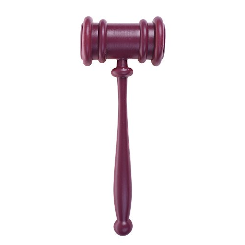 BCP 10.5 Inch Long Plastic Courtroom Juders Gavel Costume Accessory
