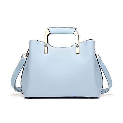 Sac à bandoulière Leathario en simili cuir pour les femmes, usage quotidien à la mode, bleu clair