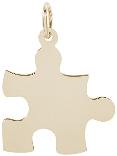 Rembrandt Charms, Puzzle Piece, 10K Yellow Gold, Engravable by Rembrandt Charms