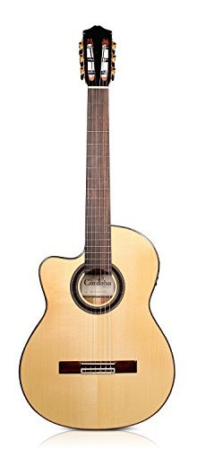 Cordoba GK Studio Left-Handed [Gipsy Kings Signature Model] Acoustic Electric Nylon String Flamenco Guitar (Model Acoustic Signature Electric Guitar)