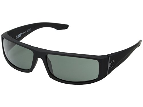 SPY OPTIC Mens COOPER Sunglasses - Matte Black / Grey Lens (Sunglasses Crystal Spy)