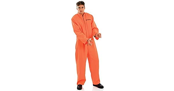 Amazon.com: Mens traje de color naranja traje de caldera ...