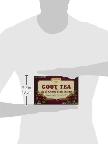3 Pack - Only Natural Gout Tea Black Cherry Fruit Extract Bags, 20 Count