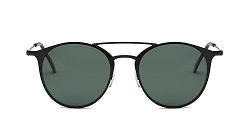 inspirées lunettes style de en Lennon soleil E retro rond vintage polarisées cercle métallique du qat11Wn6w