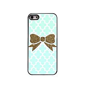 ZXSPACE Golden Bowknot Design Aluminum Hard Case for iPhone 5/5S