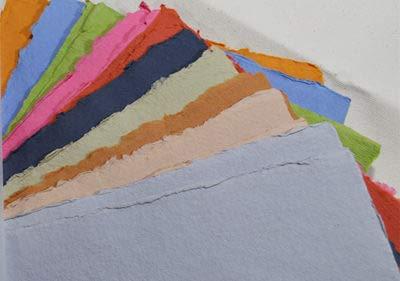 "KHADI Paper Multicolor RAG Paper (20 Sheets) Packs A5C 150 GSM 6"" X 8.25"""