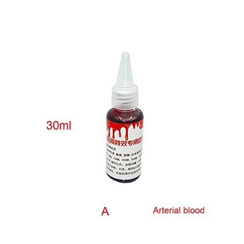 Dreamyth Halloween Fake Blood Ultra-Realistic Simulation Human Vampire Party Make up Prop (red A)