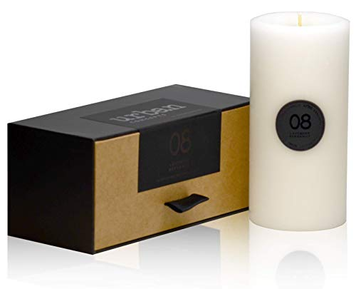DecoCandleS Urban Concepts Relaxation - Lavender Bergamot - Highly Scented - Long Lasting - Hand Poured in USA - Signature Scent for The Bohemian Hotel Charleston Gallery - 3x6 Pillar in Box