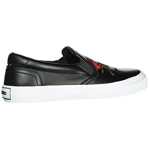 Sneakers on Cuir en k Noir Femme Tiger Jumping Slip Kenzo Skate XfAq5T