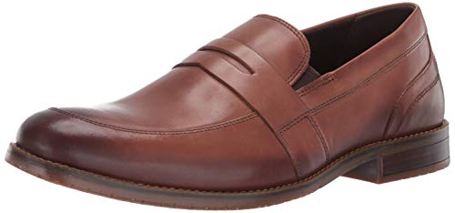 - Rockport Men's Sp3 Dble Gore Penny Loafer, Cognac Leather, 7.5 M US