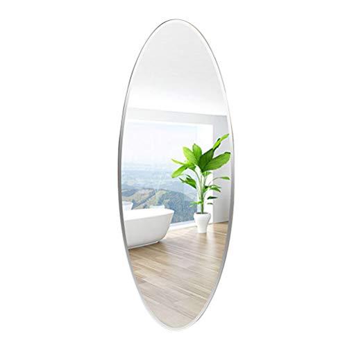 JIZI Full Length Mirror Wall Mounted, Oval Frameless Bathroom Bedroom Living Room -