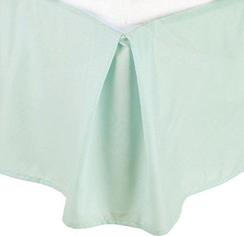 LaxLinens 250 fils cm², 100%  coton, finition élégante 1 jupe plissée de chute lit Longueur    21  - Royaume-Uni-King-Bleu clair