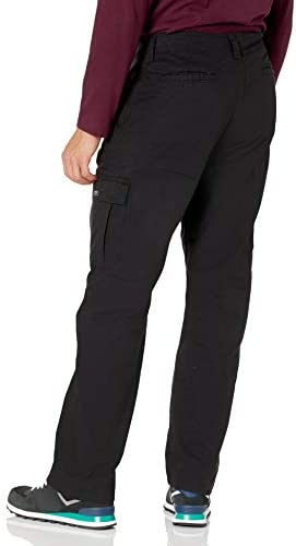 31qWaYGCBiL. AC Wrangler Authentics Men's Stretch Cargo Pant    Wrangler Authentics Men's Classic Cargo Stretch Twill Pant. This classic cargo pant is constructed with durable materials built for long-lasting comfort. This cargo pant sits at the natural waist and features a relaxed fit through seat and thigh. Stretch fabric moves with your body, whether you're working in the yard or busy with the family on the weekend. (6) Pockets. (2) cargo side pockets (2) back patch pockets, and (2) slash pockets. ImportedZipper closureMachine WashRELAXED FIT. These cargo pants sit at the natural waist. Designed with a relaxed fit through the seat and thigh, these cargos will keep you comfortable during any task.STRETCH TWILL. A Wrangler classic, these straight-leg men's pants have stretch and flexibility for comfort in movement. A Hollywood waistband offers extra support with your favorite belt.CLASSIC CARGO PANT. This classic cargo pant is sure to be comfortable and functional for everyday wear. From the outdoors to work, this pant is built for versatility with a timeless silhouette and extra storage.