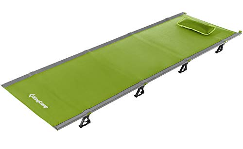 KingCamp Ultralight Compact Folding Camping Cot Bed, 4.4 Pounds (Green)
