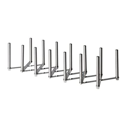 IKEA VARIERA - Pot organizador de tapa, de acero inoxidable