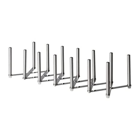 Ikea Deckelhalter Variera Edelstahl Amazonde Küche Haushalt
