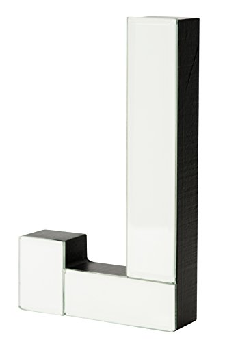 Boston Warehouse 7-Inch Tall Mirrored Glass and Wood Decorative Letter, J (Room Gaines Joanna Ideas)