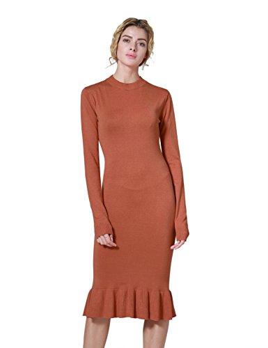 orange knit dress - 5