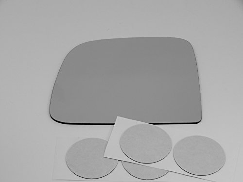 93-05 Ranger, 94-05 Mazda B2300, B2500, B3000, B4000 Left Driver Manual Mirror Glass Lens w/Adhesive USA Models w/ non folding type ()