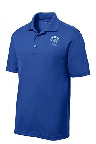 Greek Fraternity (Phi Beta Sigma Fraternity Greek Crest Emblem Short-Sleeved Polo Shirt - Royal Blue)
