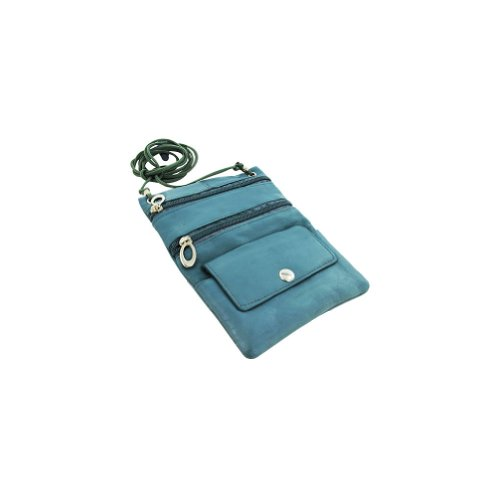 Handbag Leather Avenue (New Genuine Leather Travel Purse General Purpose Shoulder Baby Blue Bag)