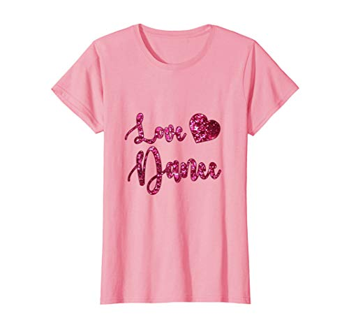 'Love Dance' t-shirt. Pink. Printed. Girls and women size.