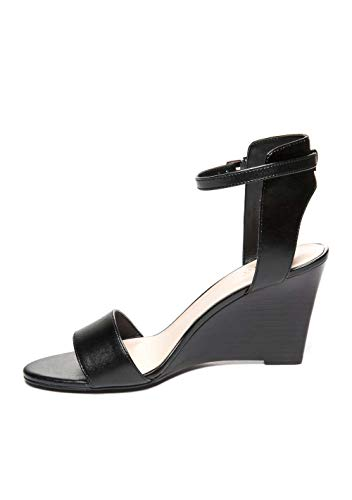 (Nine West Womens Madness Open Toe Formal Ankle Strap Sandals, Black, Size 8.0)