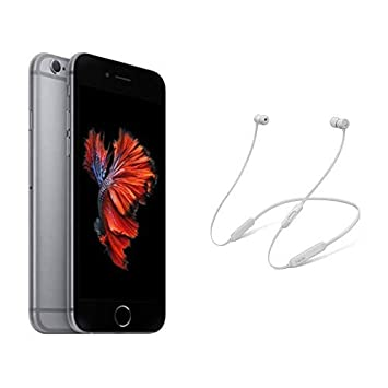release date: c0a80 a8b92 Apple iPhone 6s (128GB) - Space Grey with BeatsX Earphones - Satin ...