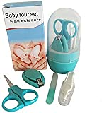 Safety Baby Nail Clippers Set with Scissors and