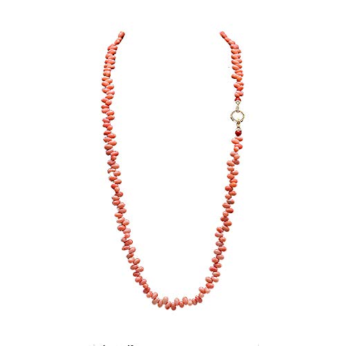 (JYX Special 5x8.5mm Drip-Shaped Pink Coral Necklace 33
