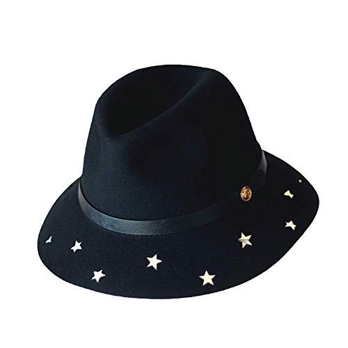 Ajustable Fieltro Las Invierno Señoras Onecolor Onecolor Jinsh 58cm Otoño Size Geométrico Sombrero Lana Glamour Hat De color E qFx0Hwt7